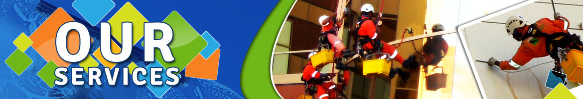 rope access cleaning in dubai